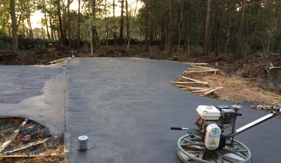 betonvloer afwerken