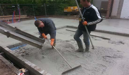 betonvloer storten