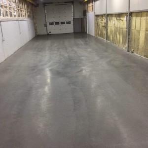 Betonvloer verven garage