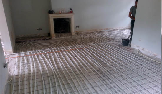 vloerverwarming betonvloer