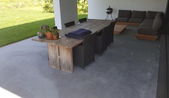 betonvloer terras