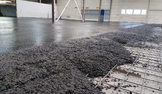 betonvloer bedrijfshal wapening