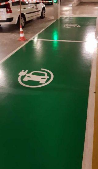 coating garage parkeerplaats